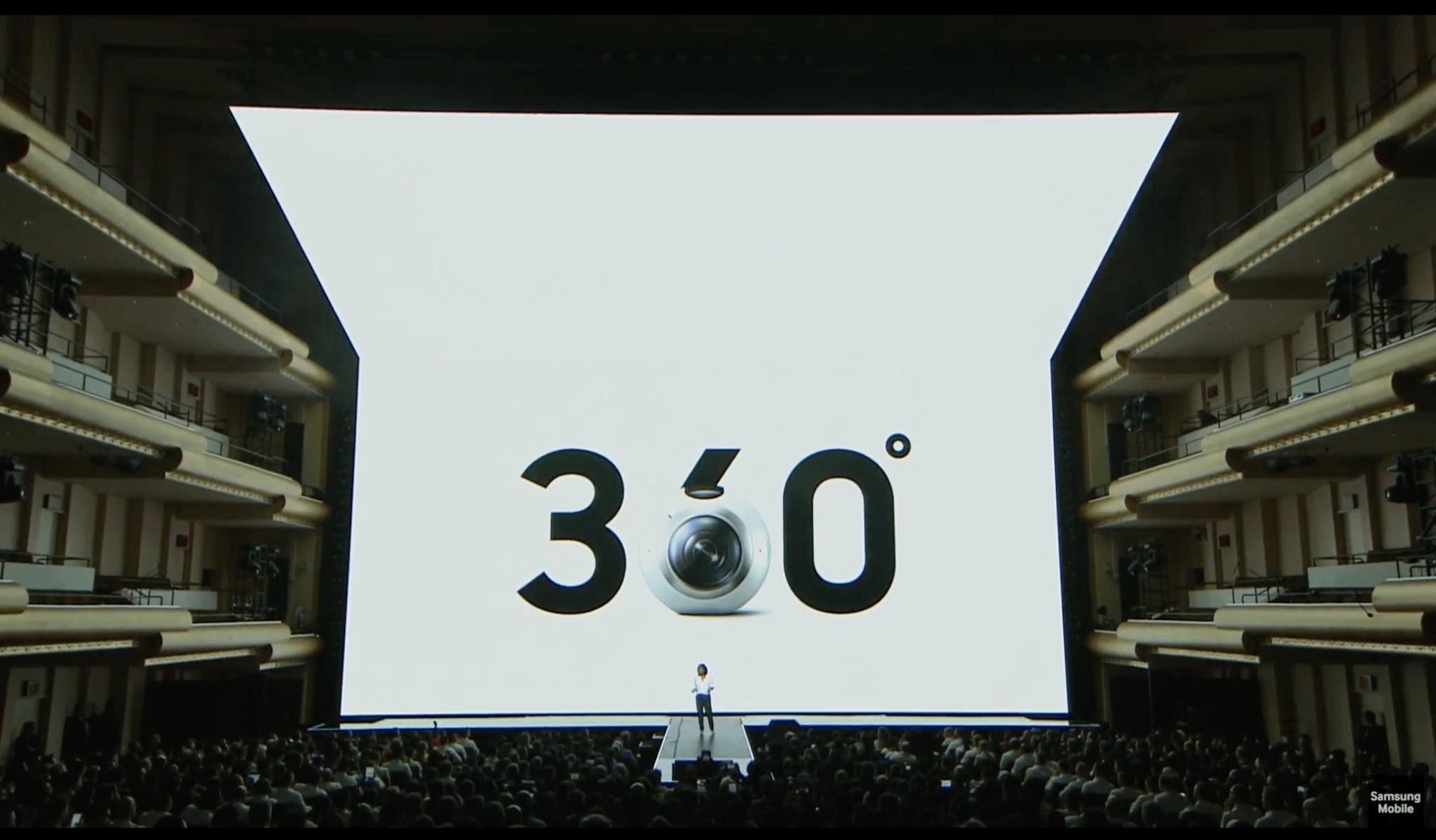 Imagen de la presentación del Gear 360
